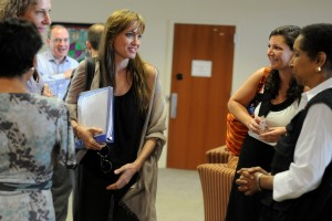 Angelina Jolie visits USAID