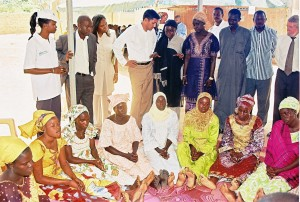 USAID Administrator Rajiv Shah meeting with expectant mothers on health issues
