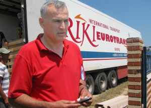 Mr. Ruzhdi Koni, owner of AgroKoni Trading Company, sends off his first shipment of watermelons to a distributor in Lithuania.  With USAID support, Albanian farmers and traders like Mr. Koni, are able to find lucrative international markets.