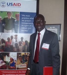Moussa Doumbia, a DOC from Mali visits the Washington headquarters of USAID. Photo Credit: Laura Rodriguez/USAID
