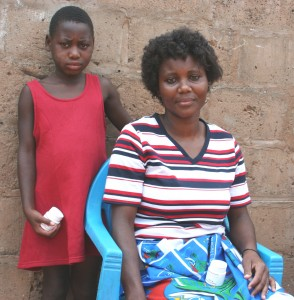 Woman and boy in Mozambique