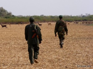Park rangers in southern Sudan