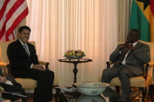 USAID Administrator Raj Shah meets with President Mills of Ghana. Photo Credit: Pat Adams/USAID