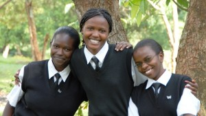Classmates in Kenya benefit from a USAID-supported program to mentor and guide girls as they transition from high school to college to careers.  Photo credit: Linda Lockhart/Global Give Back Circle