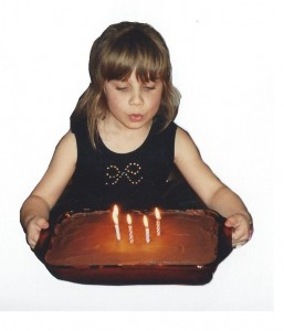 The author Carolyn Worthge on her fifth birthday. Photo Credit: Carolyn Worthge