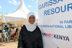With help from USAID, Ifra has become a leader in her community. She now manages a radio station that educates and empowers youth. Photo Credit: USAID