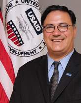 Ariel Pablos-Mendez, PhD, is the Assistant Administrator for Global Health