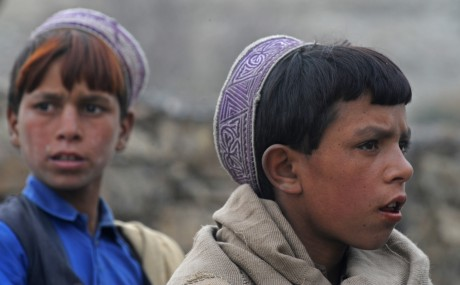 Afghan children in Nuristan Province. Photo Credit: AFP Photo/Tauseef MUSTAFA