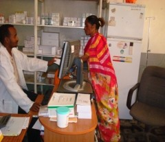 Caption: Neima collects her ARVs from Dil Chora Hospital ART pharmacy every two months Photo Credit: Dereje Bisrat, Supply Chain Management System
