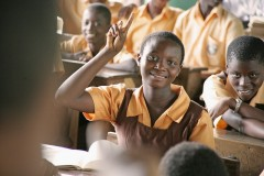 Student Nana Kweku Boateng in Junior High School in Koforidua, Ghana. Photo Credit: USAID