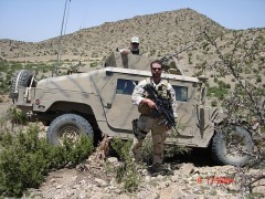 Mirko Crnkovich during his tour in Afghanistan. Photo Credit: USAID