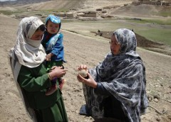 USAID is helping farmers in Ghor Province, Afghanistan, improve how they identify potato seeds (A), sort and store them (B), plant them (C), and harvest them (D), reducing the risk of crop loss at every step. Photo Credit: Catholic Relief Services