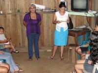 Maryuri Arellano gives a health talk on adolescent pregnancy prevention.