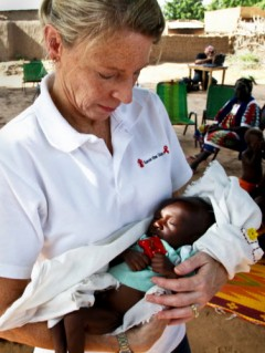 Carolyn Miles and Moussa in Diema, Mali in August 2012. Photo Credit: Save the Children