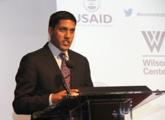 USAID Administrator Raj Shah at the Wilson Center. Photo Credit: Pat Adams/USAID