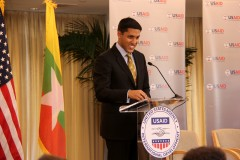 Administrator Shah addresses ...... Photo Credit: Pat Adams, USAID.
