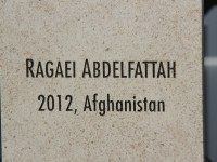 A plaque bearing his name was adjoined to a memorial remembering fallen USAID staff. Photo Credit: USAID