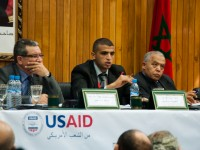 This past May, youth leaders convene with Moroccan government representatives to offer recommendations on  the new Consultative Council for Youth and Community Work. Photo Credit: USAID Morocco Local Governance Program