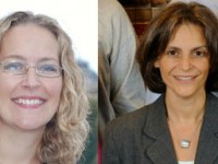 Susana SáCouto (right) is Director of the War Crimes Research Office (WCRO) at the Washington College of Law. Chanté Lasco (left) is the WCRO's Jurisprudence Collections Coordinator. Photo Credit: WCRO.