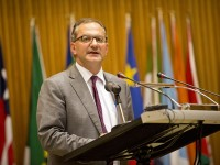 "Peter Salama, Unicef Representative to Ethiopia, makes closing remarks at ""African Leadership for Child Survival"" held at African Union in Addis Ababa, Ethiopia Friday, 18 January 2013. Photo credit: UNICEF"