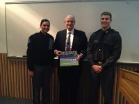 Chris Holmes with West Point cadets following the lecture on water management. Photo credit: USAID