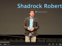 Shadrock Roberts talks about crowdsourcing. Photo credit: USAID