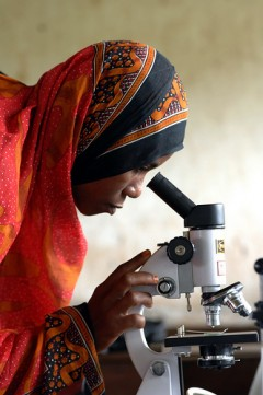 USAID-related science programs assist in expanding training for people around the globe. Photo credit: Zahur Ramji (AKDN)