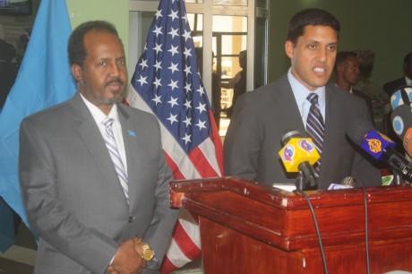 Administrator Shah addresses President of Somalia. Photo credit: USAID