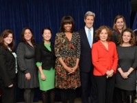 On March 8, 2013, nine women received the International Women of Courage Award,  for their service in women's rights and empowerment. Photo credit: State Department