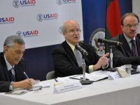 Deputy Administrator Steinberg speaks in Bangladesh. Photo Credit: USAID/Bangladesh
