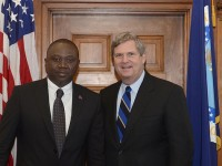 On Monday, March 4, Agriculture Secretary Tom Vilsack met with Haiti's Minister of Agriculture, Natural Resources and Rural Development Thomas Jacques who outlined his three year strategic plan for revitalization of the Haitian agriculture sector. Photo credit: USDA