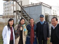 Christa Hasenkopf (third from left) with PEER group at an air quality monitoring station in Ulaanbaatar in 2012. Photo credit: Christa Hasenkopf