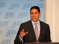 Administrator Shah spoke at the American Enterprise Institute (AEI) to discuss the recently released USAID Forward Progress Report highlighting the past year's successes and challenges in reforming the Agency and delivering better, more sustainable results. March 20, 2013. Photo credit: Pat Adams, USAID