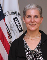 Mara Rudman serves as assistant administrator for the Middle East.