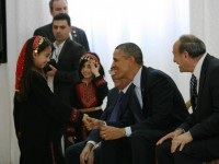 Pres. Obama meets girls in West Bank Gaza