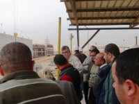 In Egypt, a team using USAID's Program Management Information System (PRISM) to monitor the status of 3,000 water and wastewater construction projects around the country validates system data with a site visit. Photo credit: USAID