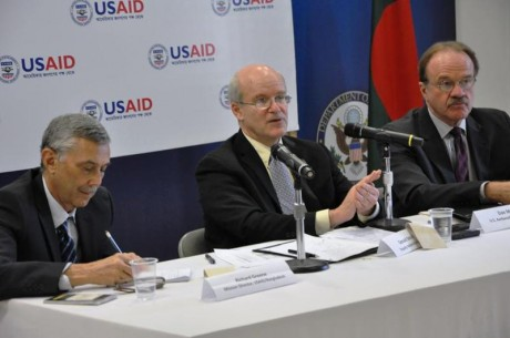 Deputy Administrator Steinberg speaks at gender equality event in Bangladesh. Photo Credit: USAID/Bangladesh