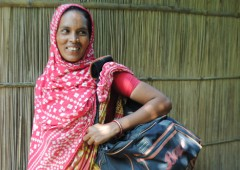 "Joytara, one of the women whose life has been changed for the better through Bangladesh's ""Jita"" Rural Sales Programme, which generates income and employment opportunities for the rural poor. Photo credit: Kathryn Richards, CARE"