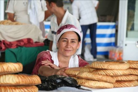 Bread is the centerpiece of the Central Asian diet. Photo credit: USAID