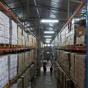 An Ethiopian warehouse after support from SCMS, USAID and PEPFAR. Photo credit: Jiro Ose, SCMS