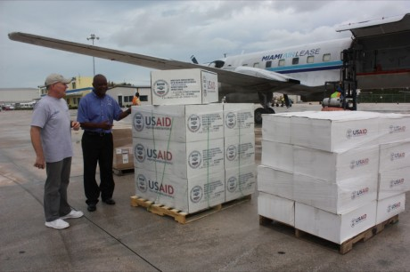 USAID airlifted emergency relief supplies to the Bahamas when Hurricane Irene made landfall in 2011. Photo credit: USAID