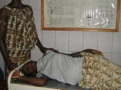 Pregnant woman with companion at the renovated maternity ward in Bobo Dioulasso, Burkina Faso. Photo credit: USAID