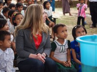 Chelsea Clinton visits a Clinton Health Access Initiative project. Photo credit: Thu Van Dinh