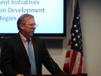 Eric Postel delivers remarks. Photo credit: Caryn Fisher, USAID Asia