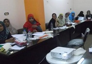 Gaz Mohamed, third from the left (in red scarf), attending the CHW training. Photo credit: MCHIP.