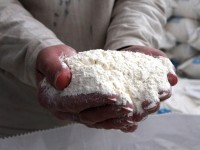 Flour made from Turkish wheat purchased for the Syria response. Photo credit: State Department
