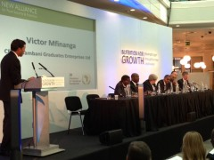 Administrator Shah attends Nutrition for Growth event in London. Photo credit: USAID