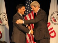 Administrator Rajiv Shah and Secretary of State John Kerry. Photo Credit: Pat Adams, USAID