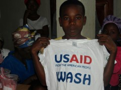 WASH program beneficiary. Photo Credit: Bendu Doman-Nimley/USAID