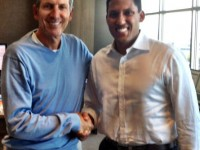 Starbucks Chairman and CEO Howard Schultz meets with USAID Administrator Raj Shah on partnership. Photo Credit: Starbucks